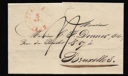 Lettre De Peruwelz Pour Bruxelles - 1830-1849 (Belgique Indépendante)