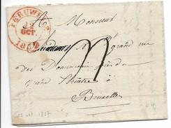 Lettre De Peruwelz Pour Bruxelles. 22 Octobre 1837. - 1830-1849 (Belgique Indépendante)