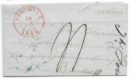 Lettre De Peruwelz Pour Bruxelles. 1846. - 1830-1849 (Belgique Indépendante)