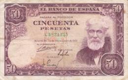BILLETE DE ESPAÑA DE 50 PTAS DEL 31/12/1951 SERIE C  (BANKNOTE) - [ 3] 1936-1975 : Régence De Franco