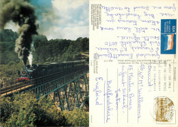 Apple Express Railway Train, Port Elizabeth, South Africa Postcard Posted 1988 Stamp - South Africa