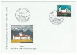 Suisse /Schweiz/Svizzera/Switzerland/1998 / Marcophilie / Aigle, 50 Ans Du Club Philatélique - Poststempel