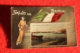 Brindisi Saluti 1920 Inviata A Zaqaziq Egitto - Brindisi