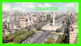 BUENOS AIRES, ARGENTINA - AVENIDA NUEVE DE JULIO - ANIMATED - TRAVEL IN 1967 - EDICOLOR - DIMENSION, 11 X 19 Cm - - Argentine