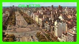 BUENOS AIRES, ARGENTINA -   AV. 9 DE JULIO Y RIO DE LA PLATA - DIMENSION 11 X 19cm - EDICOLOR - - Argentine