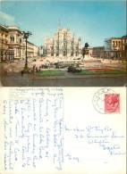 Duomo, Milano, Italy Postcard Posted 1957 Stamp - Milano (Milan)