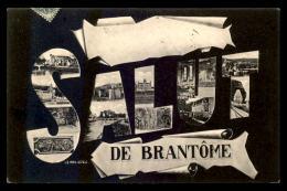 24 - BRANTOME - SALUT LETTRES MULTIVUES - Brantome