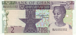 GHANA 2 CEDIS 1982 P-18d UNC  [GH119d] - Ghana