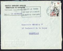 1956 Lettre Avion   De Saint-Denis Pour La France   Basketball  326 Seul - Covers & Documents