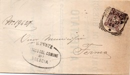 1897   LETTERA CON ANNULLO BRESCIA - 1878-00 Umberto I