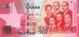 GHANA 1 CEDI 2010 P-37c UNC SERIES E [GH145c] - Ghana