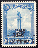 Paraguay 1946 5c On 30c Heroes Itiroro Double Overprint. Scott C155. MNH. - Paraguay