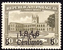 Paraguay 1946 5c On 40c Government House Double Overprint. Scott C156. MH. - Paraguay