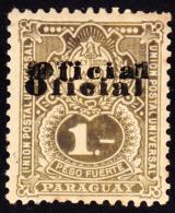 "Paraguay 1902 1p Double Overprint Of ""OFICIAL"". Scott O49. MNH. - Paraguay"