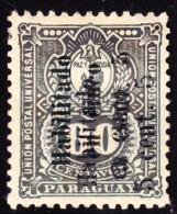 Paraguay 1902 5c On 80c Double Overprint. Scott 72. MH. - Paraguay
