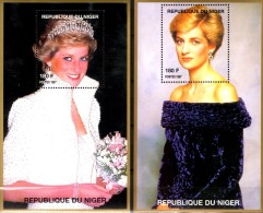 Lady Di Porträtfoto 1997 Niger Blocks E+H 110 ** 16€ Todestag Diana Hb Bloc M/s Flower Princess Of Wales Sheet Bf Africa - Niger (1960-...)