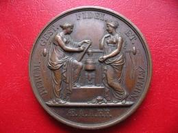 Bronze 1824 - Dom Miguel Infant De Portugal Visite La Monnaie Royale - 40mm 37g - Professionals/Firms