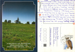 Church, Bible Verse, Slovakia Postcard Posted 1998 Stamp - Slovakia