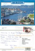 Bergen, Norway Postcard Posted 2007 Stamp - Noorwegen