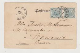 AUSTRIA  1901, WIEN,  St. Stephen's Cathedral In 1900 Wien CIRCULATED 1901 WIEN  AT CRAIOVA - Storia Postale