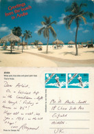 Beach Scene, Aruba, Aruba Postcard Posted 1995 Stamp - History, Philosophy & Geography
