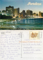 Fortaleza, Brazil Postcard Posted 2009 BARBADOS Stamp - Fortaleza