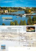Fox River, Appleton, Wisconsin, United States US Postcard Posted 2006 Stamp - Appleton