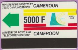 Télécarte Cameroun °° 5000.F - Magnétique 1605  -  R/V  *  T B E - Cameroun