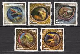 Canada, 2016, MNH, Dinosaure, Dinosaur, Sériecomplète, Die Cut - 1952-.... Regno Di Elizabeth II