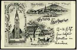 Gruß Aus Bischweier / Bischwihr / Alsace  -  Dampf-Ziegelei - Gasthaus Zum Kreuz  -  Ansichtskarte Ca.1907    (6010) - Frankreich