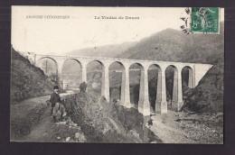 CPA 07 - DUZON - Le Viaduc De Duzon - TB PLAN EDIFICE + ANIMATION Devant - Other Municipalities
