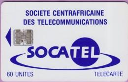 Télécarte CENTRAFRIQUE °° Socatel 60 Unités - Basique Sc7 -  SANS Numéro  -  R / V  *  T B E - Central African Republic