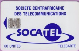 Télécarte CENTRAFRIQUE °° Socatel 60 Unités - Basique Sc7 -  N°  7575  -  R / V  *  T B E - Centrafricaine (République)
