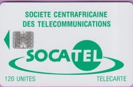 Télécarte CENTRAFRIQUE °° Socatel 120 Unités - Basique Sc7 -  SANS Numéro  -  R / V  *  Bon état - Centrafricaine (République)