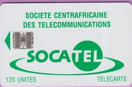 Télécarte CENTRAFRIQUE °° Socatel 120 Unités - Basique Sc7 -  N°  8683  -  R / V  *   T B E - Central African Republic