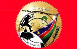 ZAMBIA  - Usato - 2010 - FIFA - Coppa Del Mondo Di Calcio - Sud Africa - Namibia - K4.050 - Zambia (1965-...)