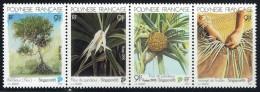 1995  Expo Singapore'95: Le Pandamus: Arbre, Fleur, Fruit, Tissage Des Feuilles  Yv 494-7  Bande De 4 ** - Neufs