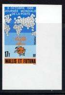 1988  Journée Mondiale De La Poste Carte  Yv 382  Non-dentelé ** - Imperforates, Proofs & Errors