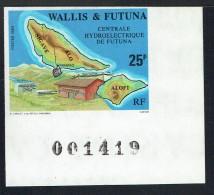 1989   Centrale Hydroélectrique De Futuna   Yv 386  Non-dentelé ** - Imperforates, Proofs & Errors