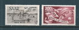 Colonie Timbres De Sarre PA De 1948   N°12 Et 13 Tres Petite Charnière  Cote 140€ - Ongebruikt