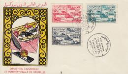 Enveloppe FDC  1er  Jour   MAROC   Exposition  Universelle  BRUXELLES   1958