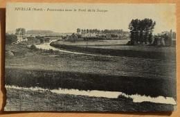 59 : Nivelle - Panorama Avec Le Pont De La Scarpe - Détérioraton Bas Gauche (voir Photo) - (n°7179) - France