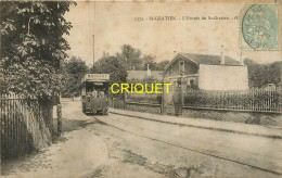 95 St Gratien, L'Entrée De St Gratien, Superbe Tramway Bernot....,carte Pas Très Courante Affranchie 1905 - Saint Gratien