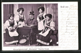 CPA Konzertgesellschaft Almenrausch, Familie Knack, Trachtenkapelle - Musique Et Musiciens