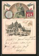 Präge-Lithographie Paris, Exposition Universelle De 1900, Fluctuat Nec Mergitur, Le Palais De L'Electricitée - Expositions