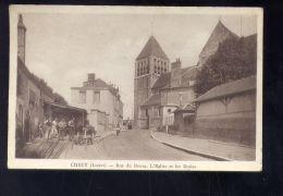 CPA (45) Chécy  -  Rue Du Bourg - Eglise Et écoles - France
