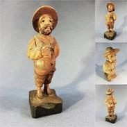 *STATUE SANCHO PANCA EN BOIS SCULPTE - Don Quichotte Sculpture Souvenir Espagne Cervantes - Wood