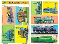 Chemins De Fer - Locomotives - 2 Planches Documentaires S.N.C.F. Par M. Sabin - Didacto N° 5.187 Et 5.188 - Machines