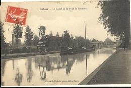 REIMS.- Le Canal Et Le Pont De Soissons   60 - Reims