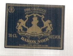étiquette  - 1960/90* - Fine Calvados Baron Noir - - Autres